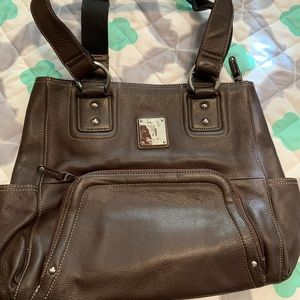 Tignanello genuine leather shoulder bag preowned
